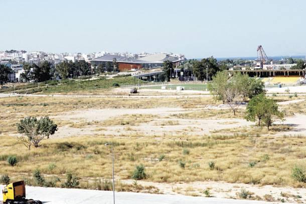 Ο χώρος στο Φαληρικό Δέλτα όπου θα κατασκευαστεί το νέο κτίριο της ΕΒΕ (φωτό από την «Ελευθεροτυπία»).