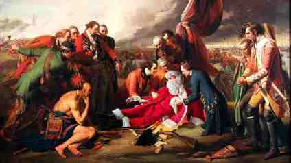 Death of General Wolfe Inspired by: Benjamin West Death of General Wolfe - 1770 National Gallery of Canada, Ottawa
