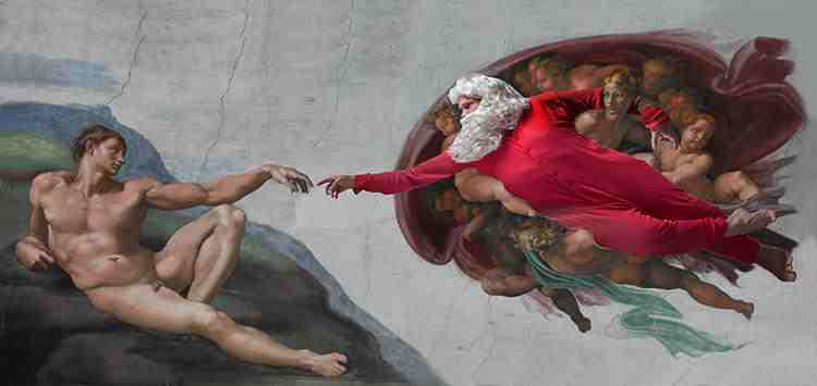 Creation of Adam Inspired by: Michelangelo Creation of Adam - 1512 Sistine Chapel, Rome