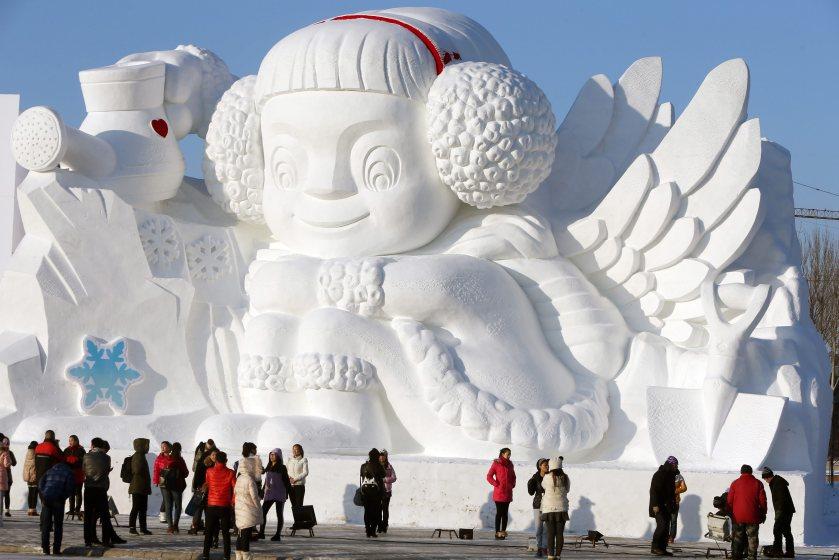 HARBIN INTERNATIONAL SNOW SCULPTURE ART EXPO OPENING