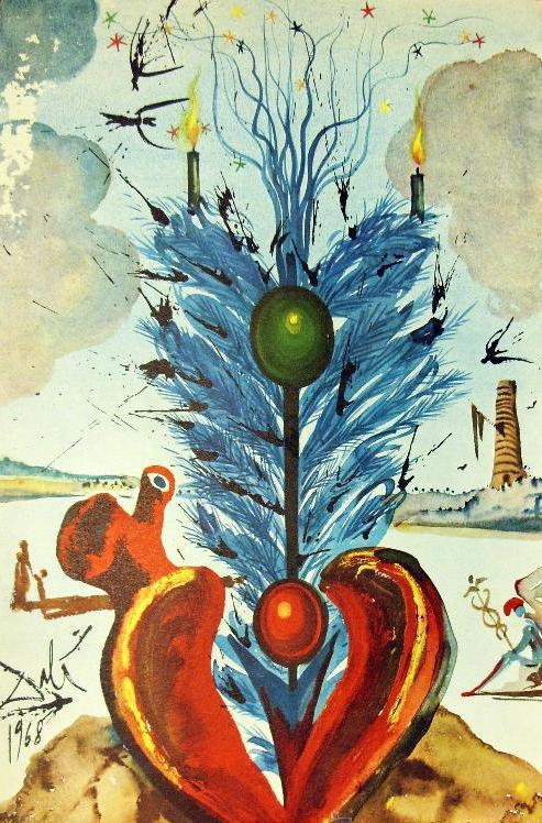 Felicitación de Navidad, Dali, 1968