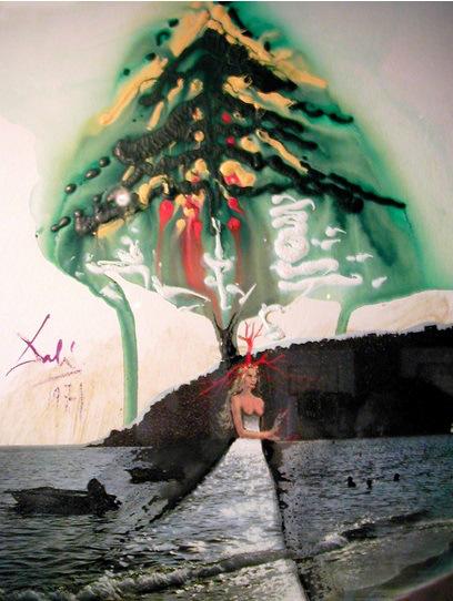 Felicitación de Navidad, Dali, 1971