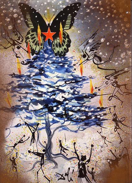 Felicitación de Navidad, Dali, 1974