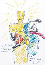 Αυτοπροσωπογραφία με χρυσό αγαλματίδιο