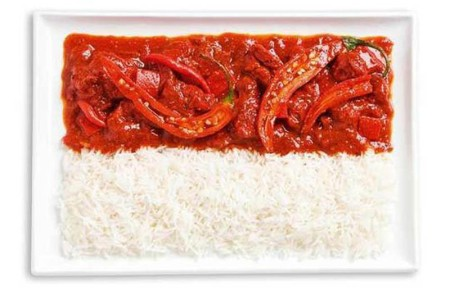 indonesia-flag-made-from-food