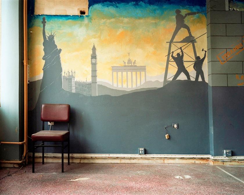 Τοιχογραφία στο παλιό κτήριο του Υπουργείου Εργασίας