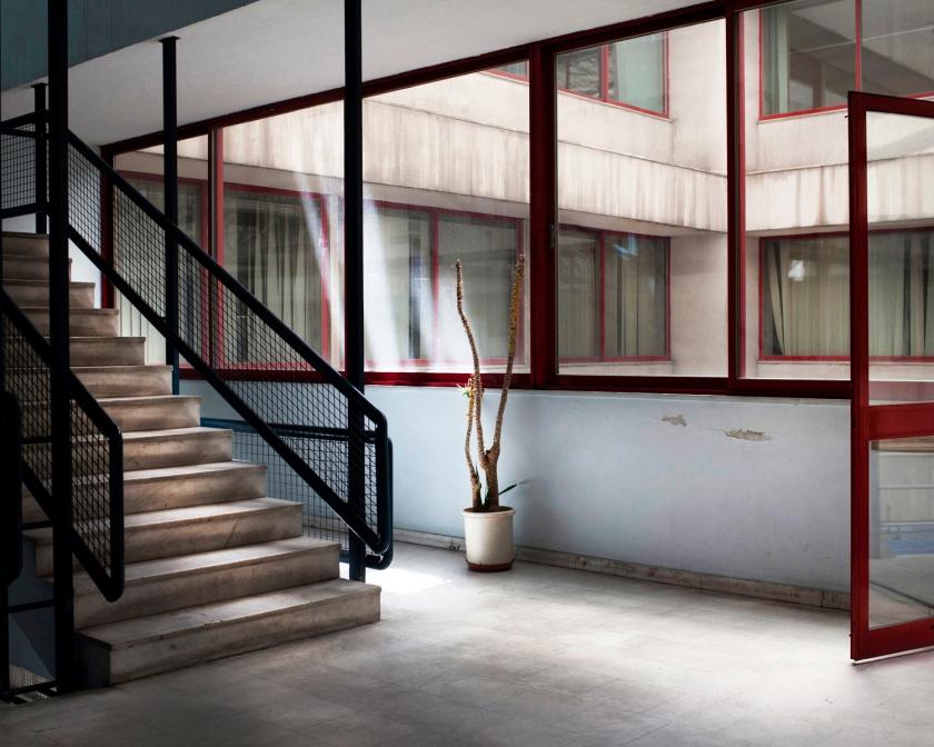 Διάδρομος στο κτήριο του Σωματείου Ναυτεργατών