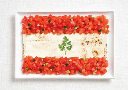 lebanon-flag-made-from-food
