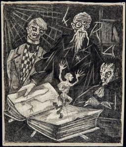 """Σχέδιο του Ντύρενματ με τίτλο """"Διαβάζοντας Χόφμαν"""""""