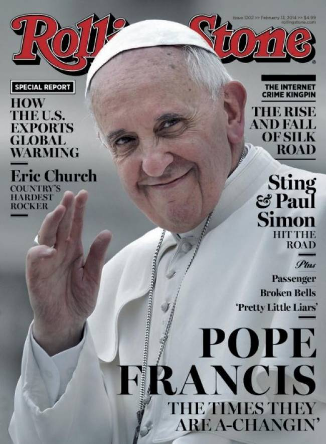 Pope on Rolling Stone