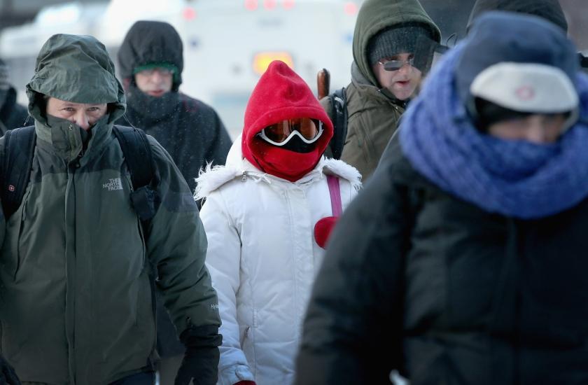 Scott Olson / Getty: Στο παγωμένο Σικάγο.
