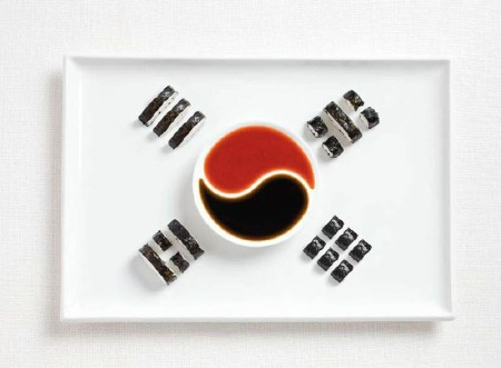 south-korea-flag-made-from-food