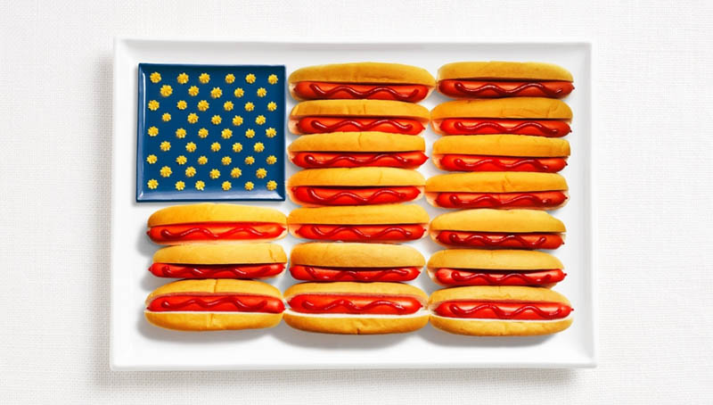 united-states-flag-made-from-food
