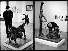 Από την έκθεση του Pablo Picasso στο Grand Palais (1966). Φωτο: Martine Frank (Magnum).