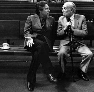Με τον Jorge Luis Borges