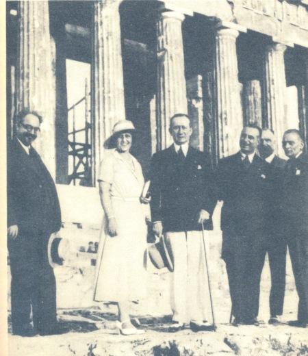 Μαρκόνι στην Ακρόπολη 1935
