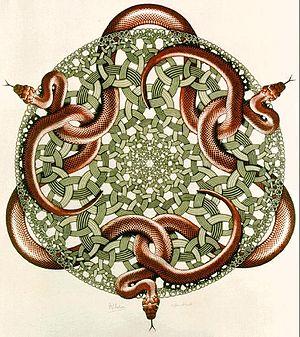 300px-Escher_Snakes