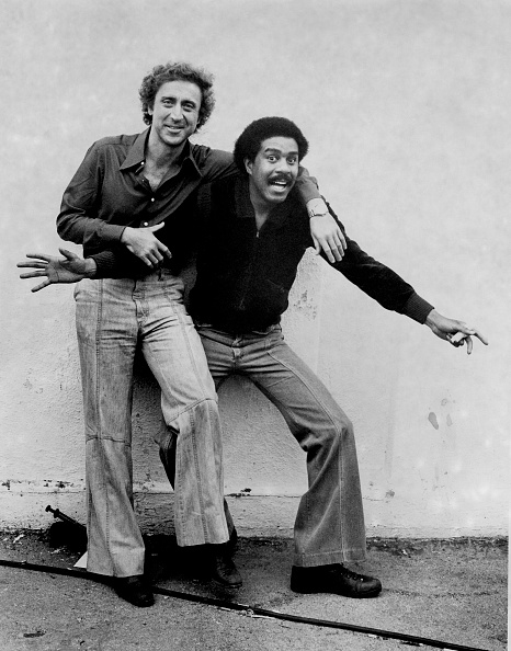 "Gene Wilder and Richard Pryor on the set of ""Silver Streak."" (Photo by Steve Schapiro/Corbis via Getty Images)"