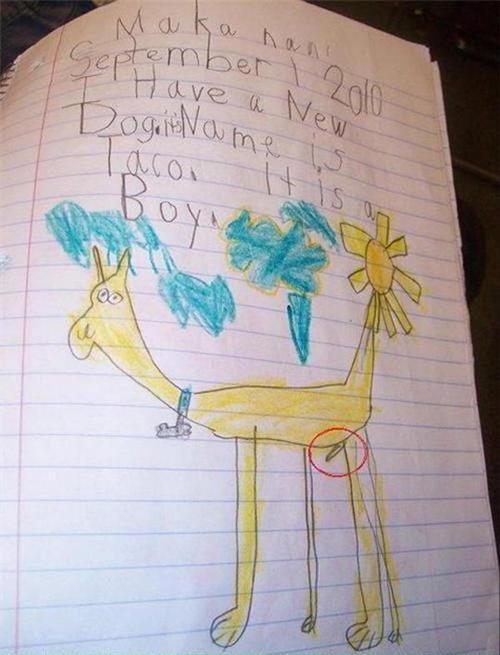 disturbing-kids-drawings-dog-penis