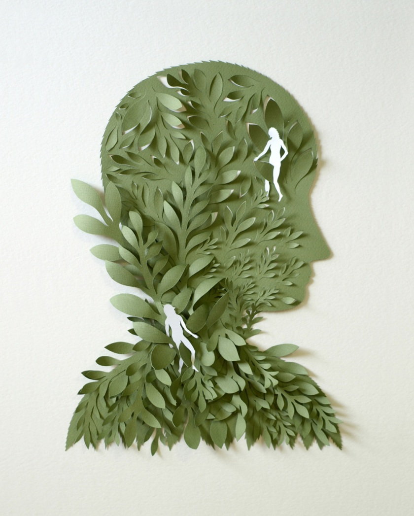Green-Head.-Paper-Sculpture-by-Elsa-Mora