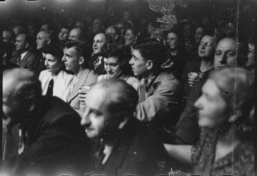 Spectators at wrestling match in Chicago