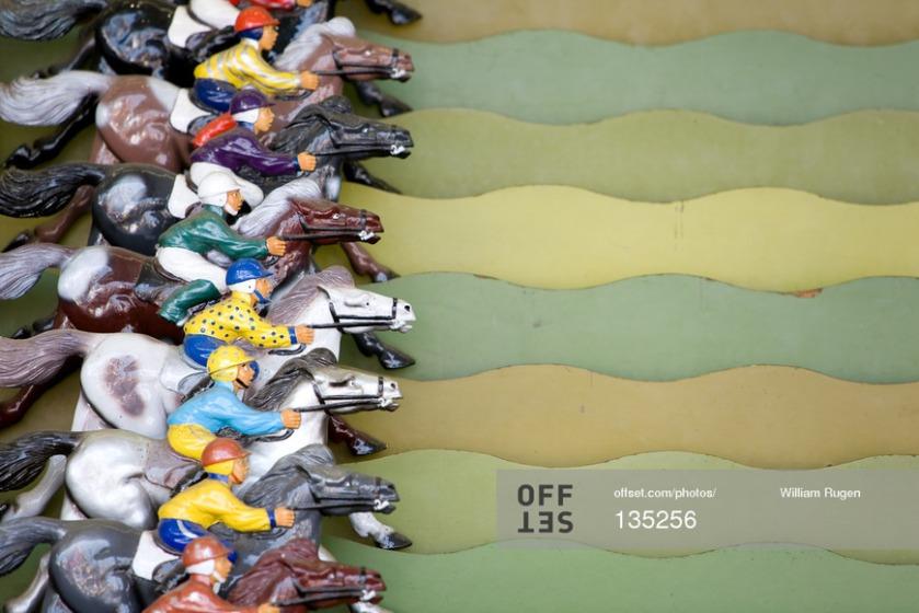 Roll a ball horserace game, Evergreen State Fair, Monroe, WA