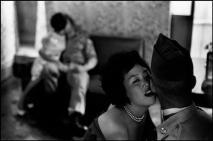 SOUTH KOREA. 1961. Village of Yon Sul Gol. Women entertaining GIs.