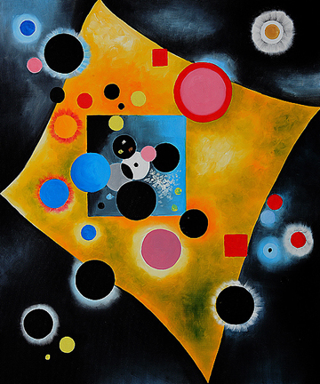 360 Accent en Rose 1926 Oil Painting by Wassily Kandinsky