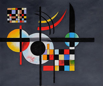 360 Gravitation Oil Painting by Wassily Kandinsky