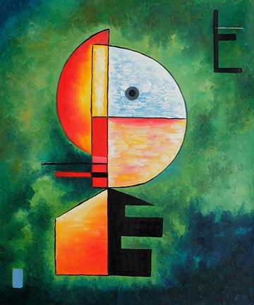 360 Upwards 1929 Oil Painting by Wassily Kandinsky