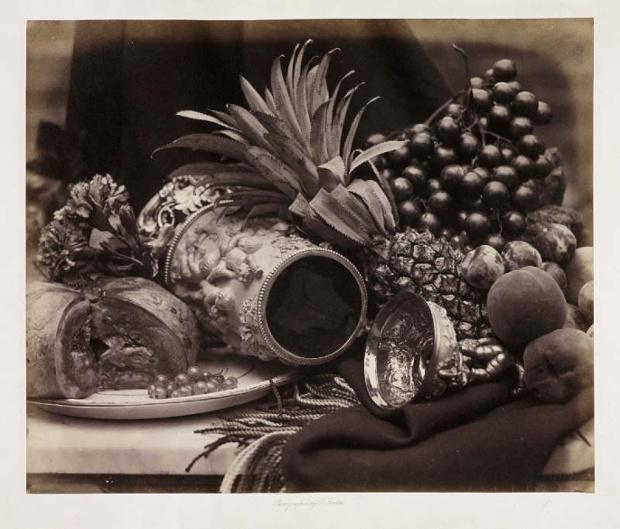 Νεκρή φύση με κούπα από ελεφαντόδοντο και φρούτα, 1860, Ρότζερ Φέντον.