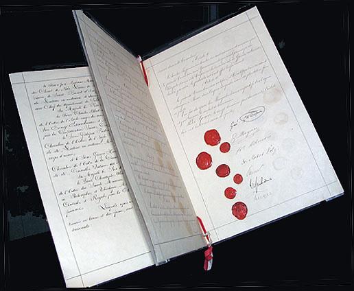 Το χειρόγραφο της πρώτης Σύμβαση της Γενεύης