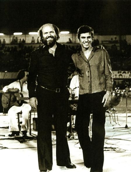 Με τον Μαρκόπουλο, το 1976.