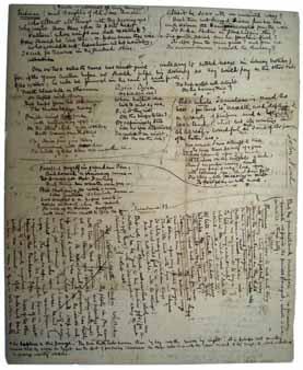 Σημειώσεις του Γκρίσγουολντ σε έργο του Πόε.