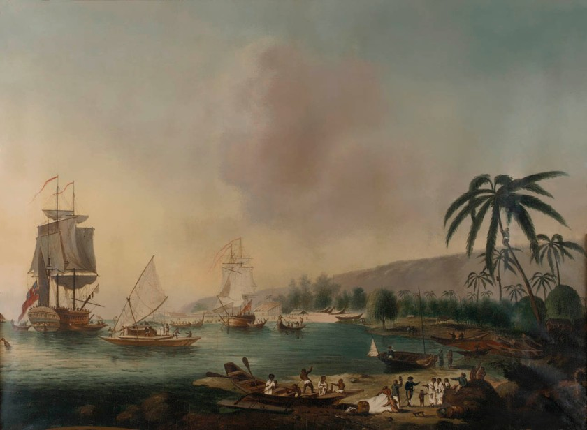 John_Cleveley_the_Younger,_HMS_Resolution_and_Discovery_in_Tahiti