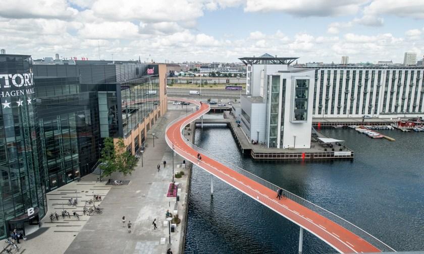 Γέφυρα Cykelslangen, Κοπεγχάγη, Δανία.