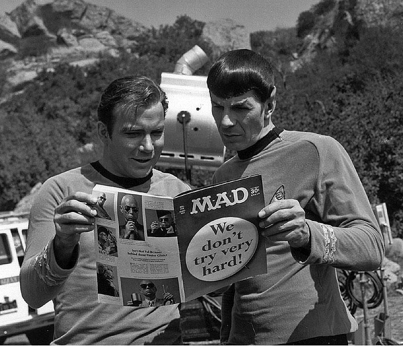 William-Shatner-and-Leonard-Nimoy-Set-of-Star-Trek-1967