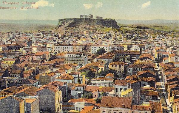 Πανόραμα της Αθήνας στα τέλη του 19ου αιώνα, με τους 200.000 κατοίκους.