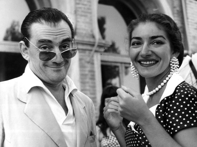 Luchino Visconti e Maria Callas, 1956