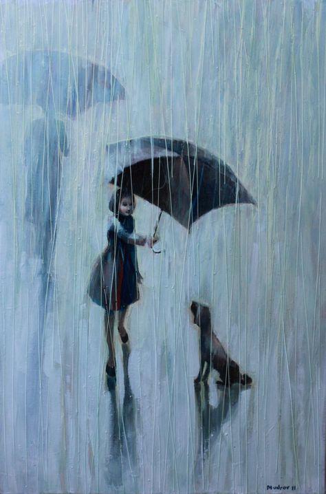 Πίνακας της Eda Uyar: «Ομπρέλα για δύο», 2011, λάδι σε καμβά.