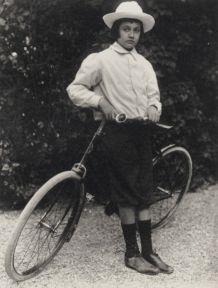 Jaques with bicycle given to him by his father in 1899