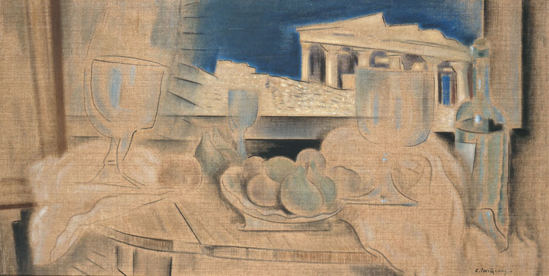 parthenis still-life-with-acropolis-in-the-background-1931