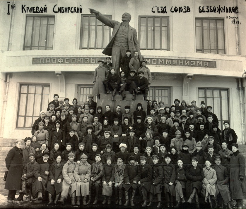 The first regional Siberian assembly of the League of Militant Atheists, 1929