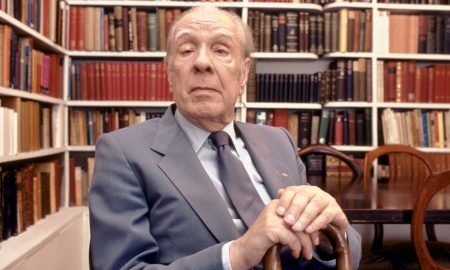 Argentine writer Jorge Luis Borges at home in Buenos Aires, Argentina, 1983. (Photo by Christopher Pillitz/Getty Images)
