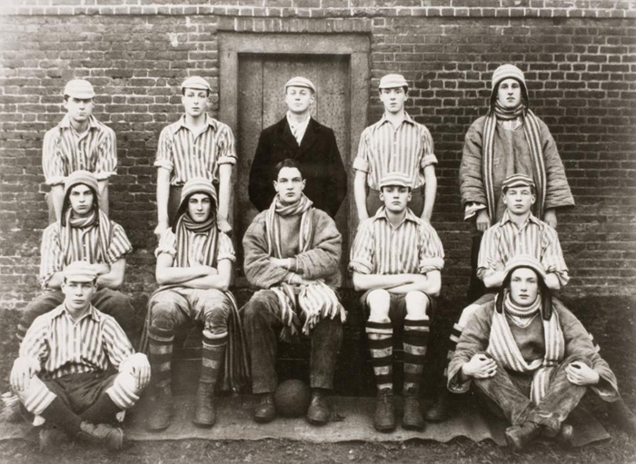 Eton wall game 1921 Orwell is on the back row first on left