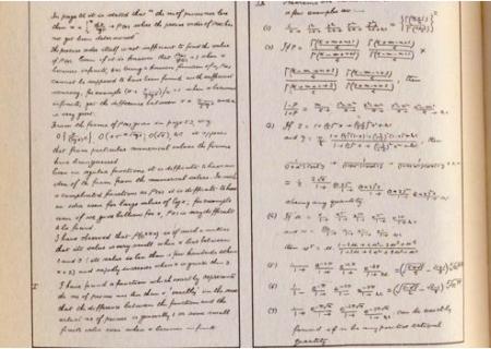 Ramanujans Handwriting