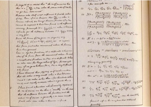 Ramanujans Handwriting