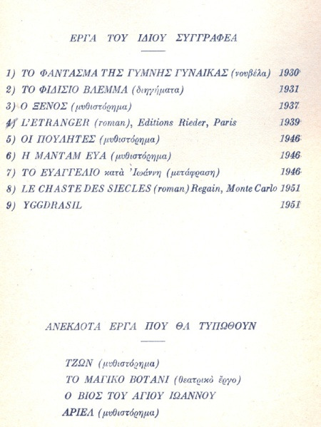Γιωργος Βουγιουκλακης Βιβλιογραφια