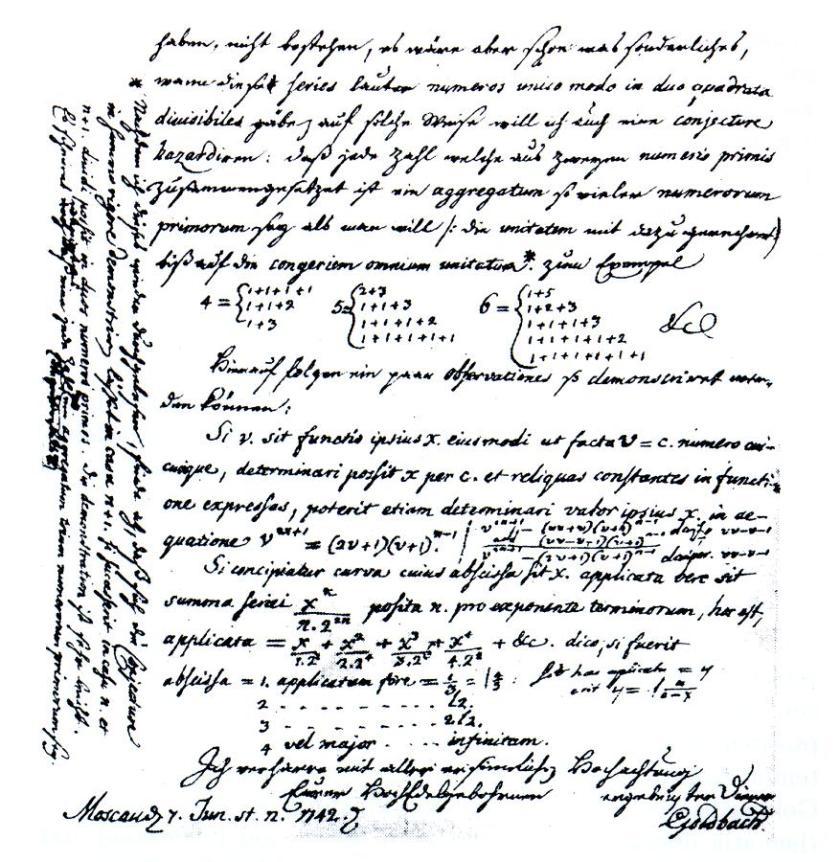 Letter_Goldbach-Euler