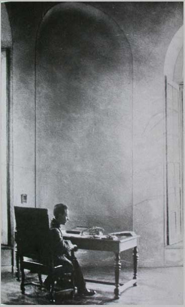 Rainer Maria Rilke at work, Hotel Biron, Paris